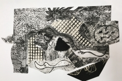 Jeanne MacIntosh Best Parts E hand-pulled print / collage