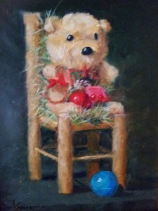 Christmas Teddy Bear by Jane Kahler