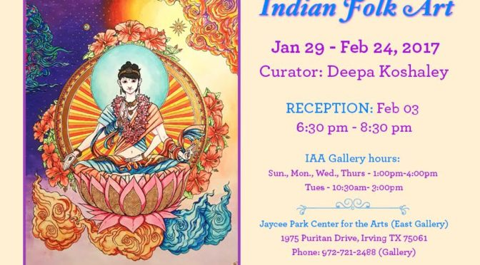 Indian Folk Art Exhibit opens Jan. 29; reception Feb. 3