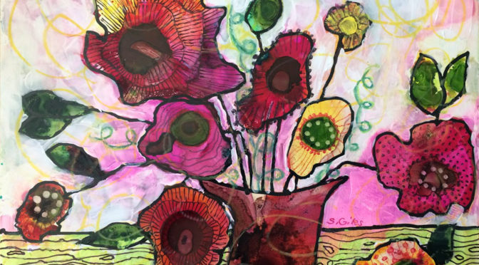 Acrylic/WC Mixed Media Flower Workshop with Sharon Giles May 13