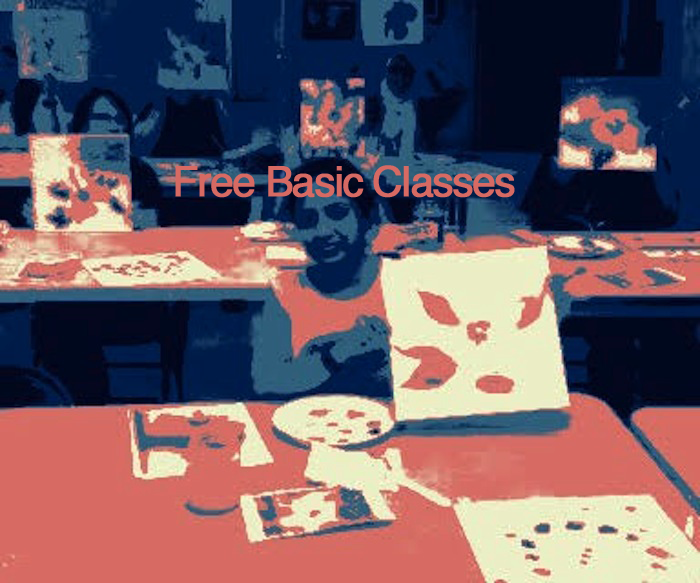 Winter 2018 Free Basic Classes on Fiber Arts, Gelli Printing, and Oil & Acrylic Painting