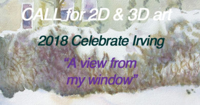A View from My Window call for art (2018 Celebrate Irving)
