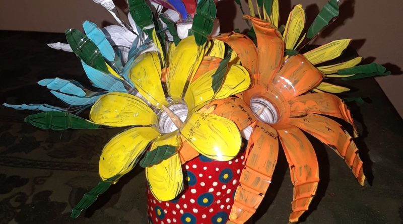 Free Basic Classes on Recycled Bottle Flowers