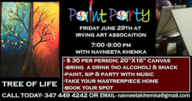 Paint Party! TREE OF LIFE with Navneeta on June 29th