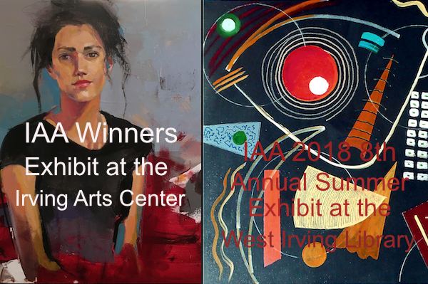 Art by IAA Artists travels to the Irving Arts Center and the West Irving Library
