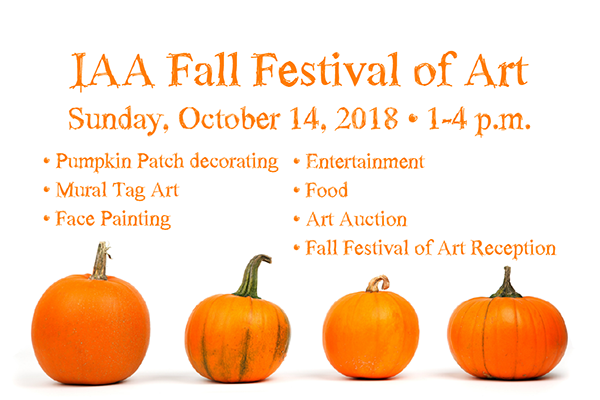 Celebrate our Fall Festival of Art on Oct. 14!