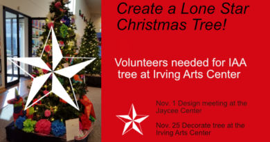 """IAC Holiday Tree Competition: """"Lone Star Christmas"""" – call for volunteers"""
