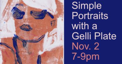 Simple Portraits with a Gelli Plate Nov. 2