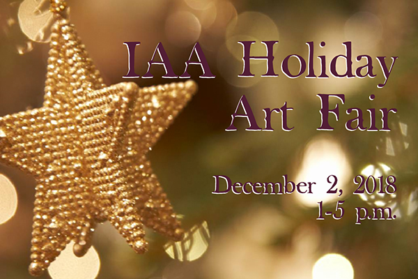 IAA's first Holiday Arts and Crafts Fair is December 2nd