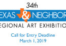 2019 Texas & Neighbors Regional Exhibition call for entries – $8,000 in awards – deadline March 1