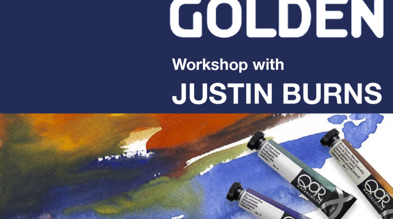 Watercolor and High Flow Acrylics on Non-Traditional Surfaces: Workshop May 11 by Justin Burns