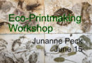 Eco-Printmaking Workshop with Junanne Peck June 15