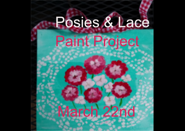 Posies & Lace Art Project