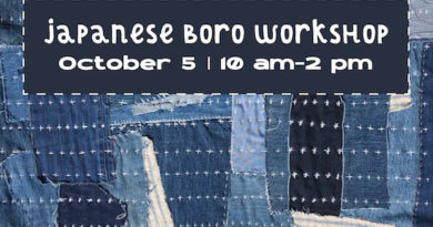 Japanese Boro Workshop With Junanne Peck Oct. 5