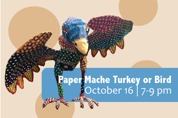 La tecnica antigua del Papel Mache (Paper Mache Turkey or Bird)