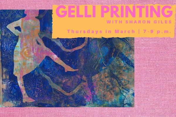 Gelli Printing with Sharon Giles: Classes in March