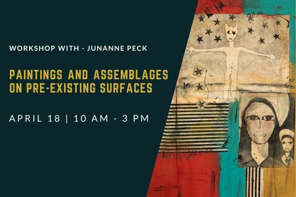 Paintings and Assemblages on pre-existing Surfaces: April 18
